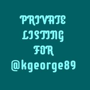 🐙 PRIVATE LISTING FOR @kgeorge89